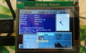 Il window manager FVWM su Arietta G25 + Arietta XTERM.