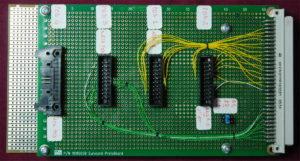 L'adattatore autocostruito predisposto per i Termination Adaptor.