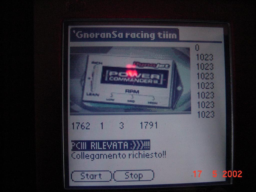 Pre pre pre beta del software sviluppato per il Palm. Si noti il Team che fungeva da sponsor! :-D