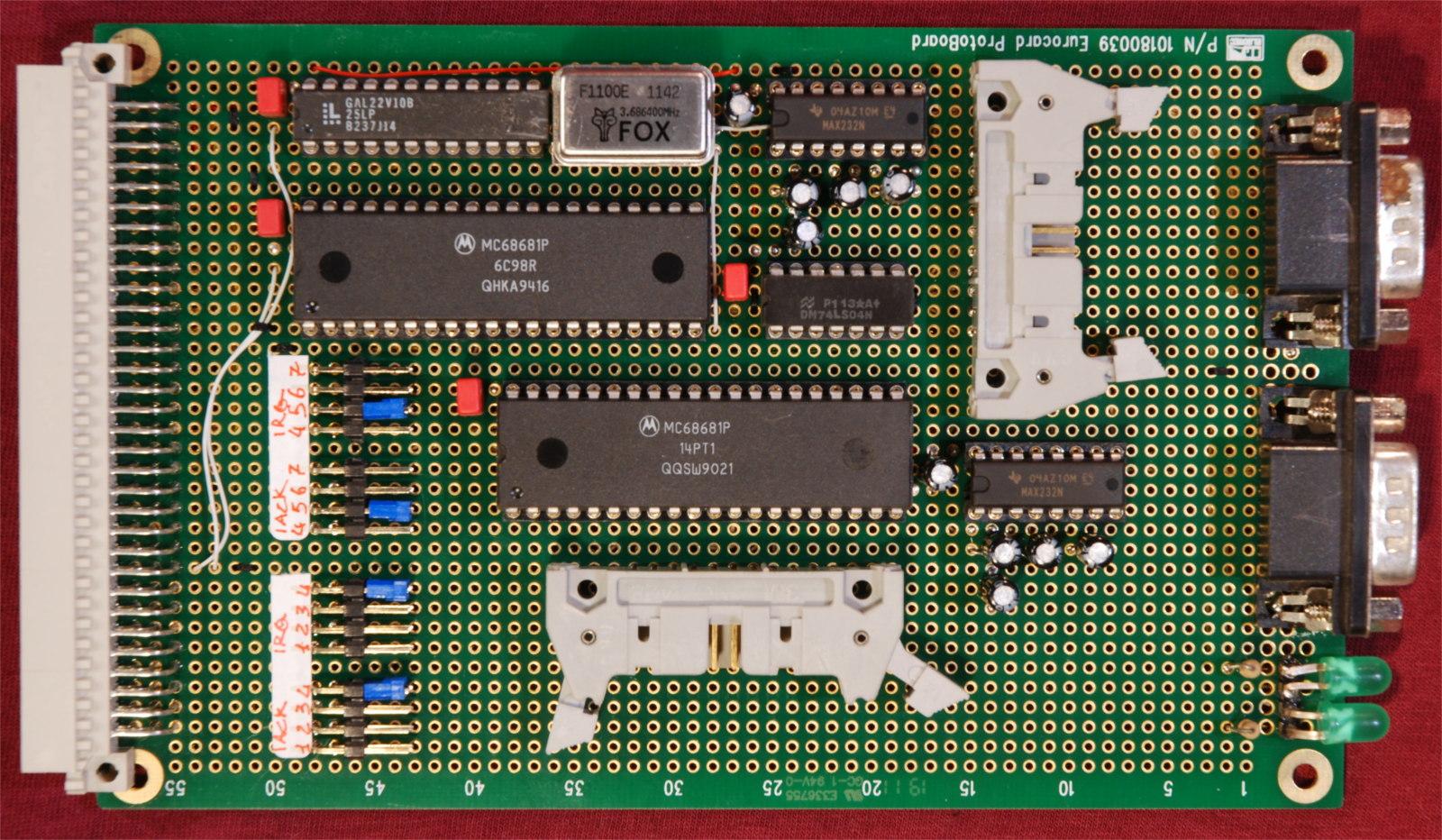 Kira 68010 computer. Scheda I/O.